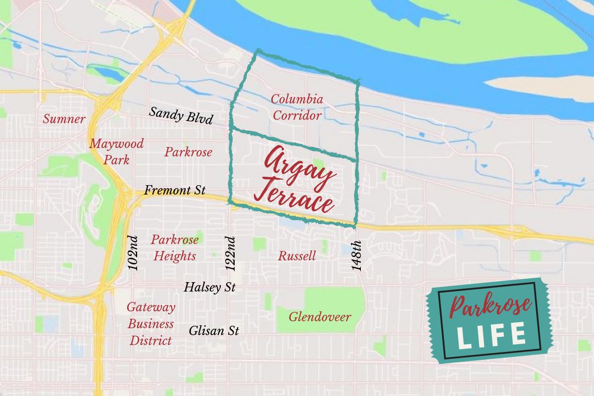 Argay Terrace Neighborhood Map