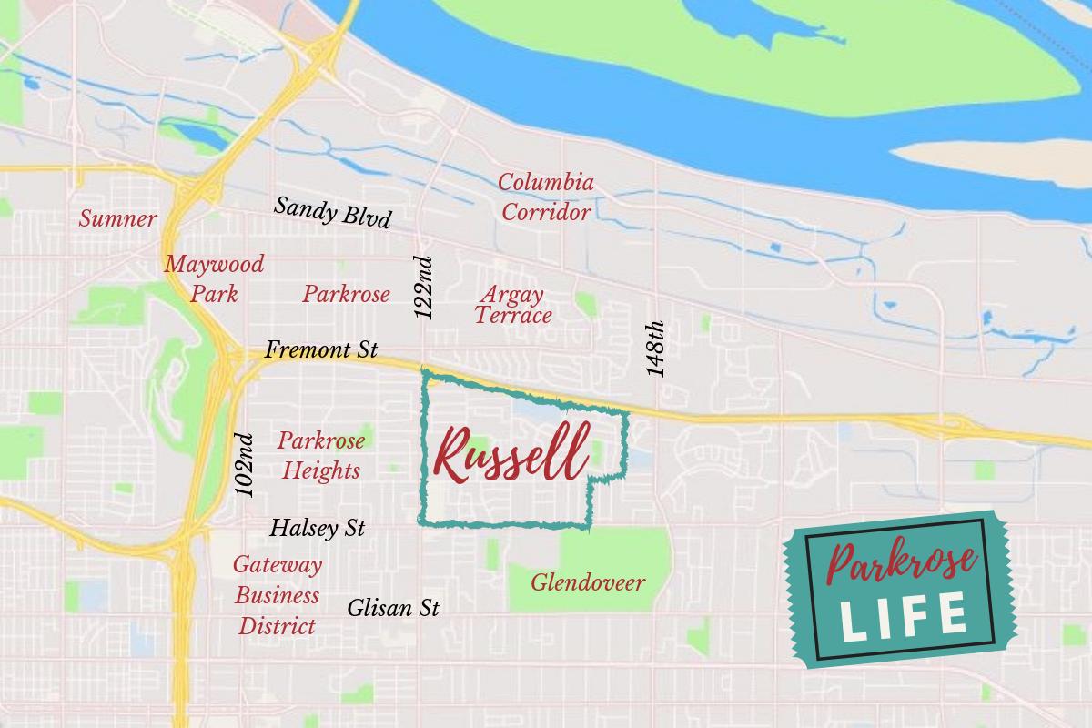 Russell Neighborhood Portland Map