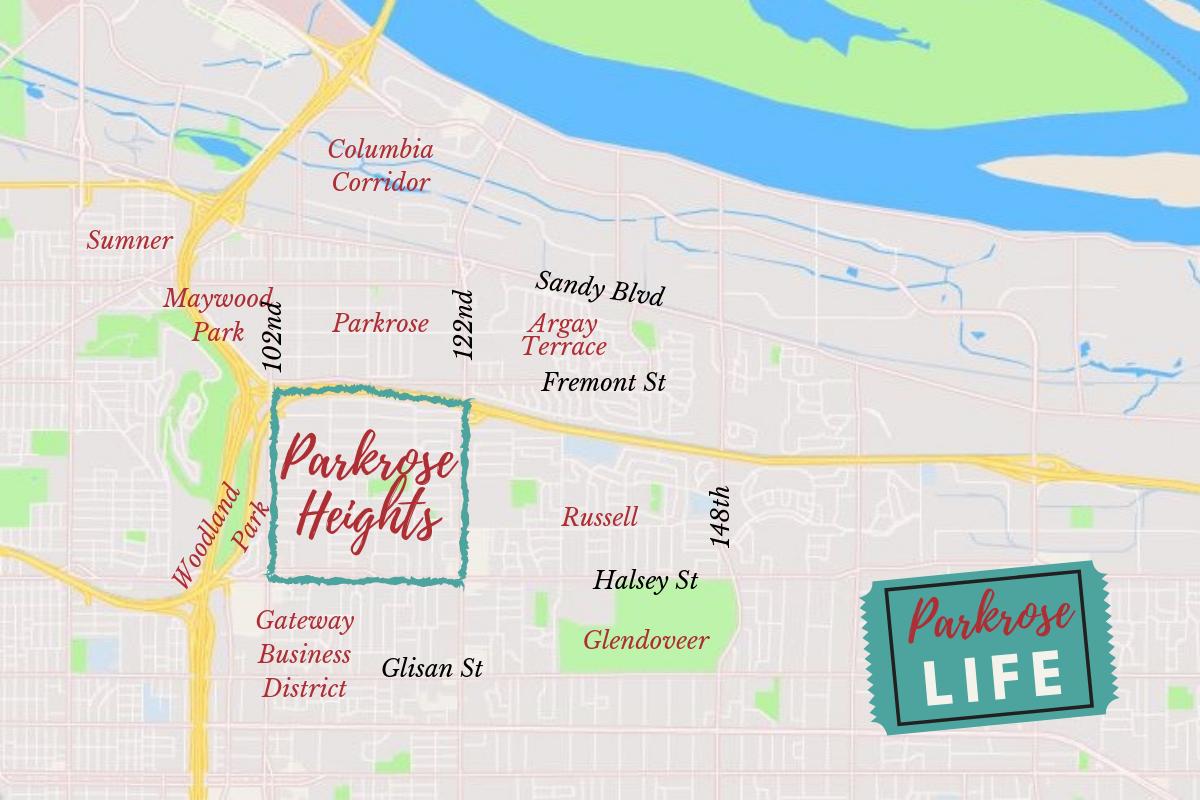 Parkrose Heights Neighborhood Map
